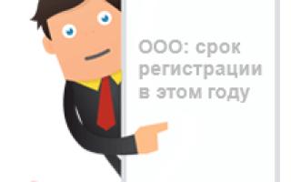 Срок подачи формы № Р11001 при регистрации ООО после принятия решения