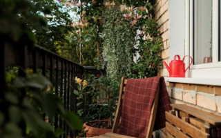 Как заполнить открытый балкон с красотой и уютным и не собирать мусор (36 фотографий)