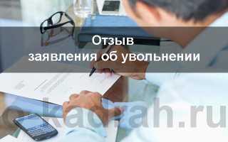Отзыв запроса о добровольном отказе в соответствии со ст. 80 ТК РФ