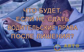 Что мне может грозить, если не забрал свои водительские права?